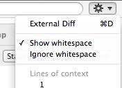 Show whitespace